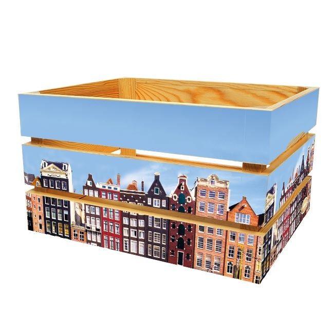 Amsterdamse huizen - Fietskrat